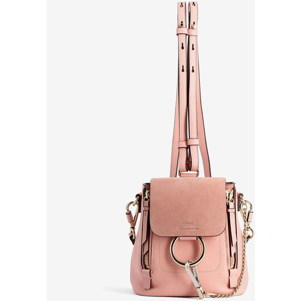 Chloé Chloé Faye Mini Backpack ($1,067) ❤ liked on Polyvore featuring bags, backpacks, pink, long strap bags, day pack backpack, strap bag, mini bag and pink backpack