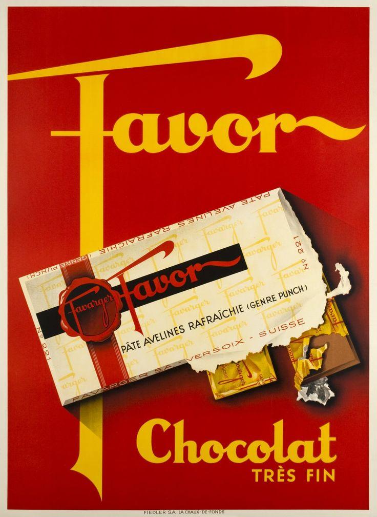 Favor, Chocolat très fin de Favarger. Jacomo MULLER (1935 circa)