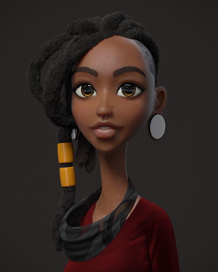 ArtStation - Girl, Guzz Soares