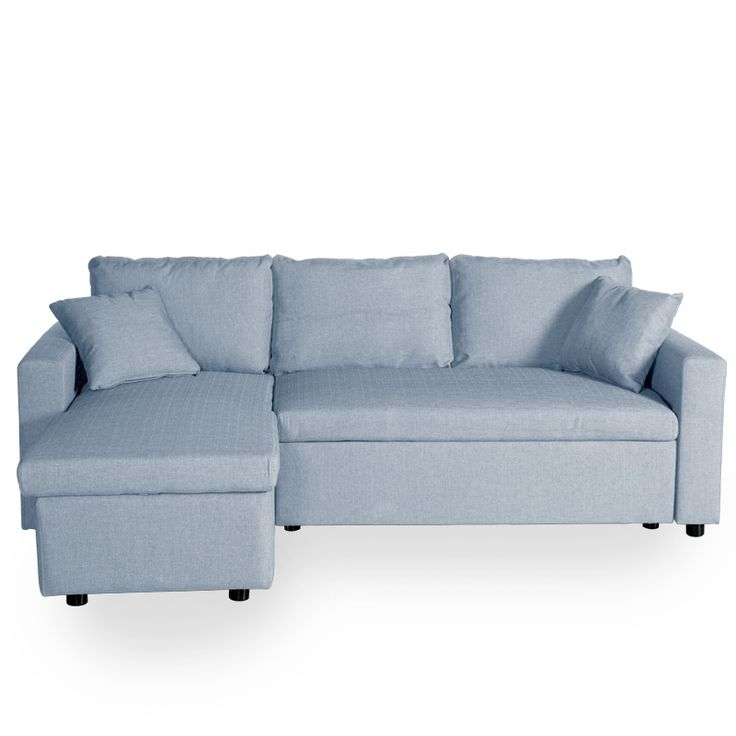 #Sofá Cama #Chaiselongue  Adara color azul claro.