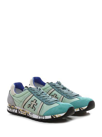 PREMIATA - Sneakers - Donna - Sneaker in tessuto tecnico e camoscio con suola in gomma. Tacco 25. - 1450 TURCHESE\GREY - € 183.00