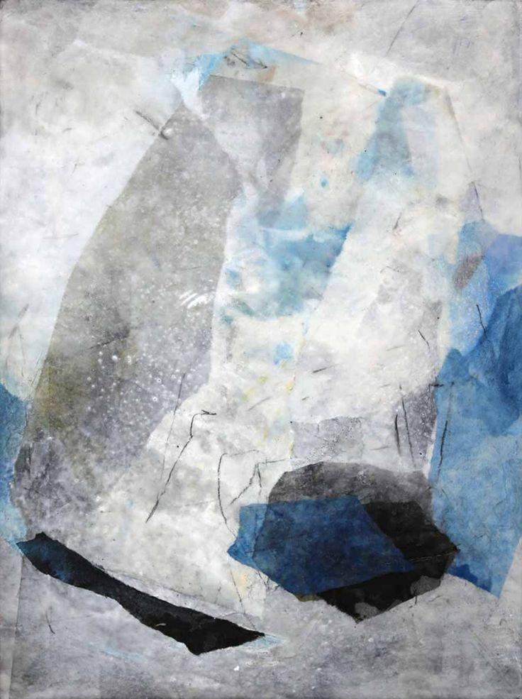 """""""Sturmzeit"""", Maße: 45x60x3cm, Collage unter Wachs auf Holz, 2017 Collage von Katja Gramann #collageart #collagen #collage #collageartist #abstractpainting #abstract #contemporaryart #contemporary #painting #kunstwerk #artwork #paperart #blue #abstraktekunst #modernekunst #livingroom #livingroomdecor #livingroomideas #interior #interiordesign #interiordesignideas #diningroomfurniture #furniturepainting #furniture #möbel #einrichtung #einrichtungsideen"""