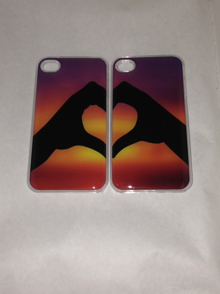 BFF Heart Matching iPhone 4 4S clear case for boyfriend ...