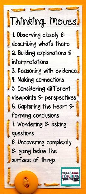 Make Thinking Visible: strategies for getting students to think about their thinking
