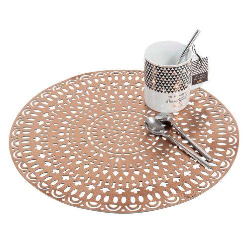 Tischset rund AMARA mit Lochmuster, D 38cm, verkupfertem