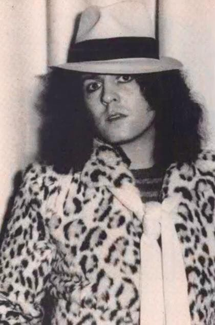 Marc in leopard print and fedora <3