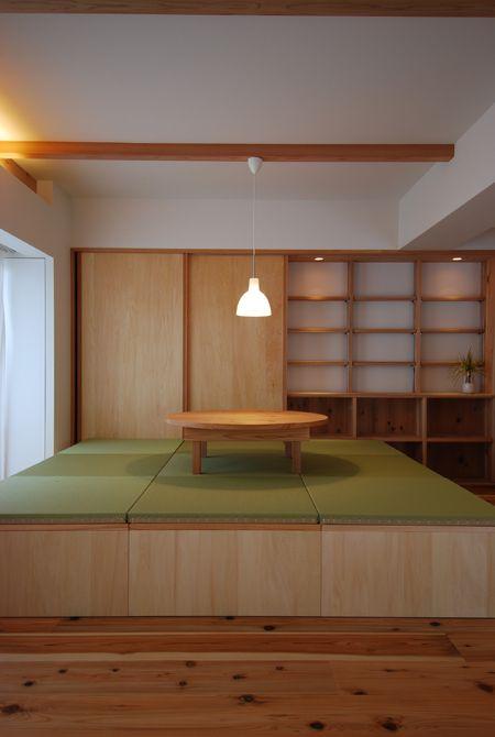 小上がり畳スペースとちゃぶ台とポールセンのペンダント照明 | 木のマンションリフォーム・リノベーション設計実例 | 木のマンションリフォーム・リノベーション-マスタープラン一級建築士事務所