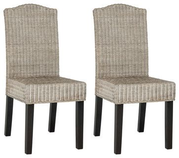 Odette Wicker Dining Chair (Set of 2) tropical-dining-sets