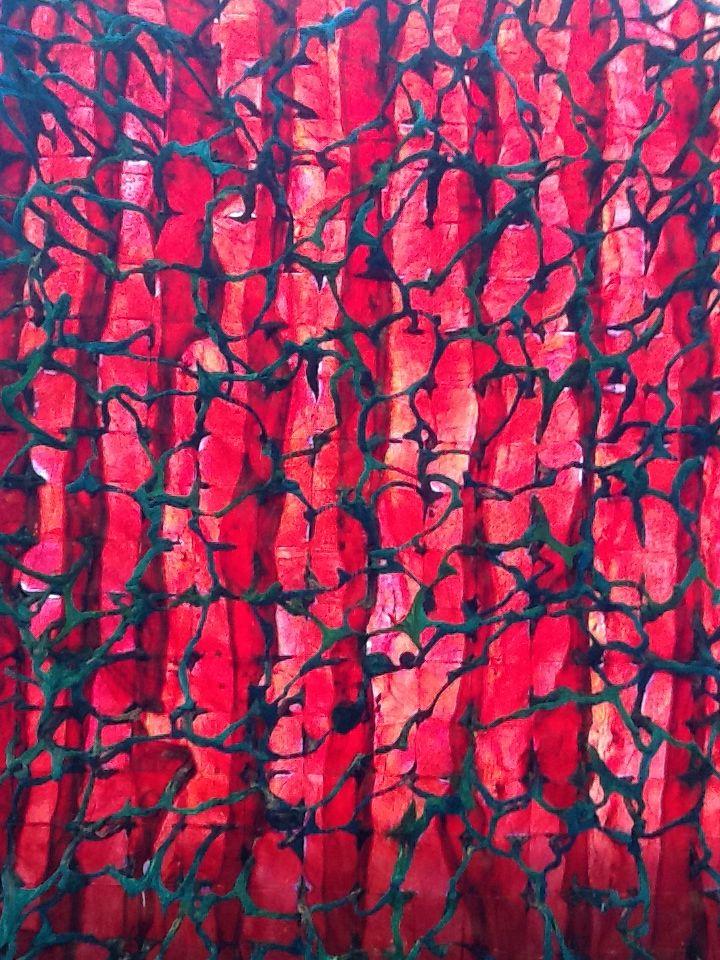 Kjellrun Porsvik Forfang 5, detail Organic material