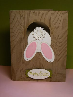 A La Cards: Some Easter cuteness...  How to make the bunny butt card.  Clever & cute!
