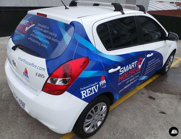 Smarthouse Hyundai i20, partial vehicle wrap, trade services