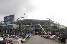 sun life stadium , home of the Miami Dolphins.