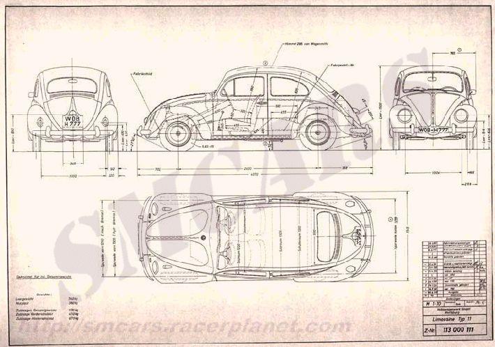 1958 60 Vw Limousine Type 11 Plans Cars Pinterest