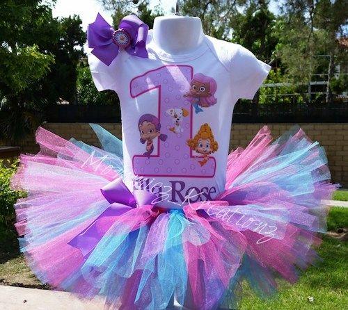 Bubble Guppies tutu set, Guppies birthday outfit | Mommiez_Kreationz - Clothing on ArtFire