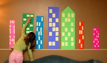 Post It Note City. Create board of people, transportation, places in a community.