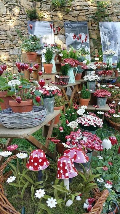 Gartenbaumesse - Tulln  #keramiavirag #bokreta #kezmuves #dekoracio #lakberendezes #egyedi #manufaktura #asztaldisz #csokor #virag #bolt #budapest #vasar #handmade #keramia #virag #astoria #rendezveny #tulln