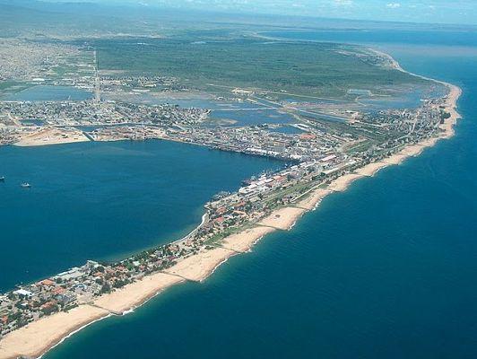 Aerial view of Lobito coast - Angola