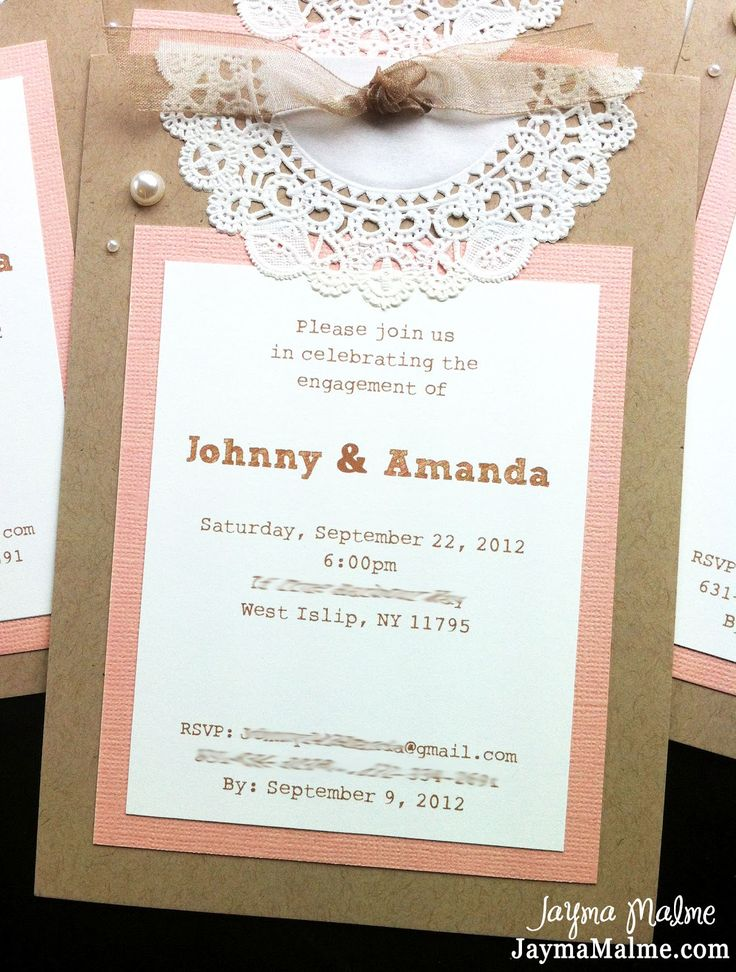 diy vintage engagement cards | ... Scrapbooks, Cards & DIY: Vintage Doily Engagement Party Invitations