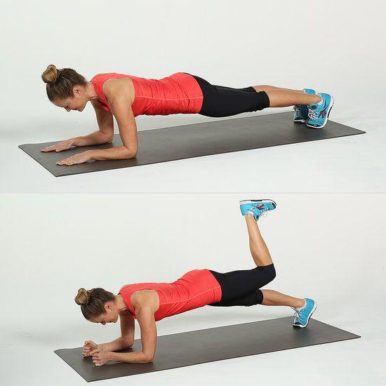 Elbow Plank With Donkey Kick   8 exercises to get rid of Saddlebags  ( leg workout )