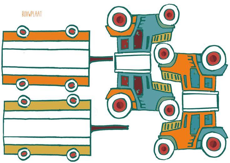 Bouwplaat Peuter traktatie met rozijntjes, zoute stengels en een beetje creativiteit. door Joanne Zwart/ &art http://www.n-art.nl/?p=2898