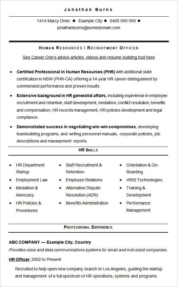 Free Resume Templates Human Resources #freeresumetemplates #human