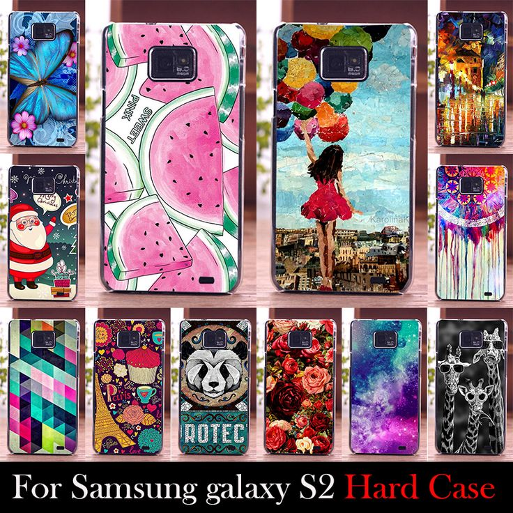 Do samsung galaxy s2 i9100 case twardego plastiku telefon komórkowy okładka case diy kolor paitn telefon torba shell darmowa wysyłka