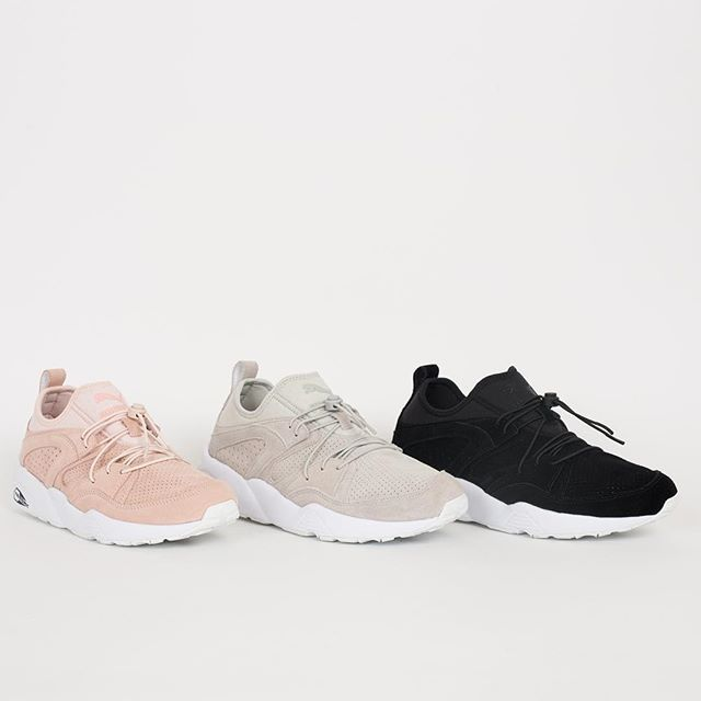 COMING SOON! Puma Blaze of Glory SOFT | These Blaze of Glorys by Puma are soft, as stated, thanks to the supersoft suede upper. Pink is for the ladies, grey and black are unisex. Available April 1st @ 0.01 AM CET online on www.suppastore.com #SUPPA #Puma #BlazeofGlory #SOFT