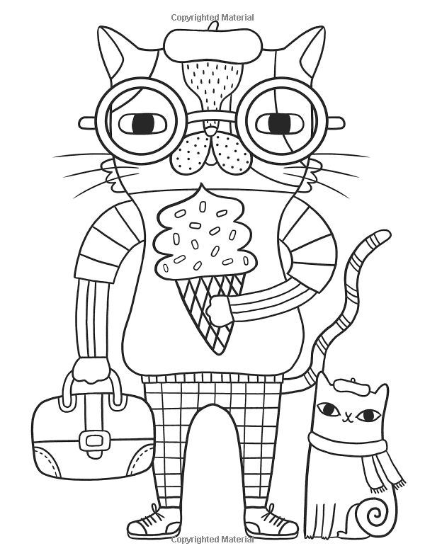 387 Best Images About Coloriage Chats On Pinterest