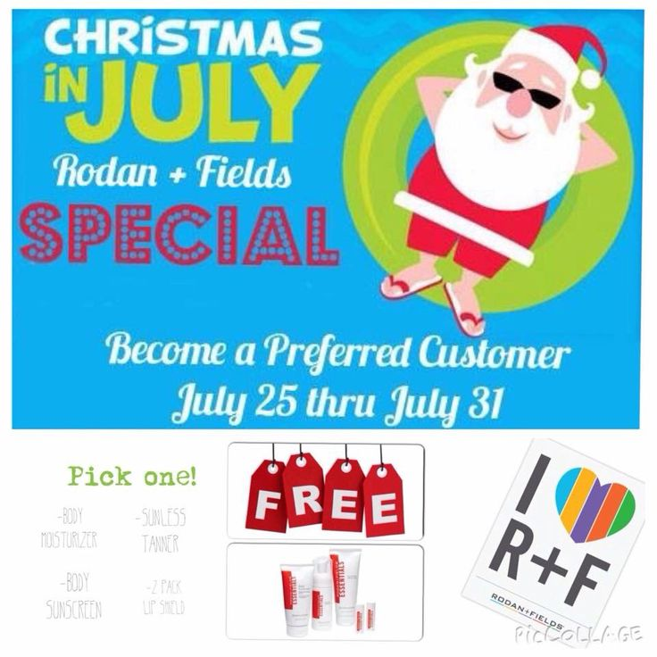Christmas in July!  Starting Saturday, July 25 - Friday, July 31 new PCs get a free gift!