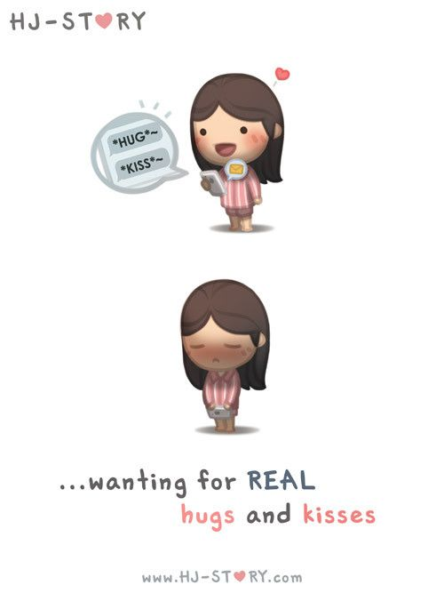 wanting for real hugs and kisses. (con ganas de abrazos y besos reales)
