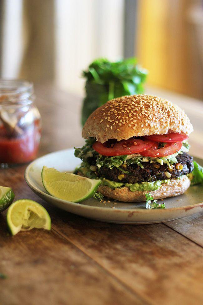 Wholehearted Eats : Baja Black Bean Burger with Creamy Lime Coleslaw #Burgerweek