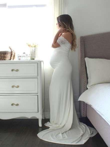 Vestidos de novia para embarazadas: Fotos de trajes nupciales  | Ellahoy