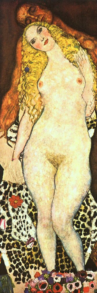 roninonabike:  gustav klimt, Adam and Eve (Unfinished); 1917-18