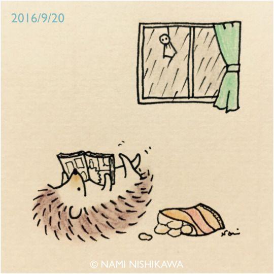 Lazy day hedgehog