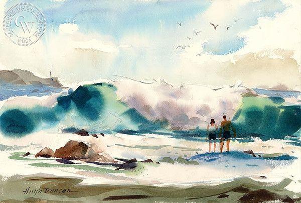 Hugh Duncan - Newport Beach, California art, original California watercolor art for sale, fine art print for sale, giclee watercolor print - CaliforniaWatercolor.com