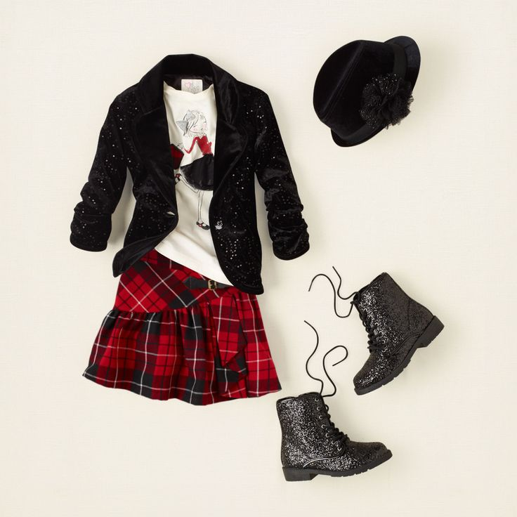girl - outfits - plaid tidings - plaid rocker | Children's Clothing | Kids Clothes | The Children's Place