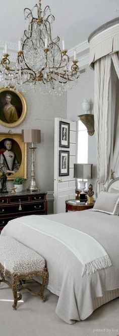 Jean Louis Deniot - Rue des saints peres Paris. Classic elegant bedroom interior