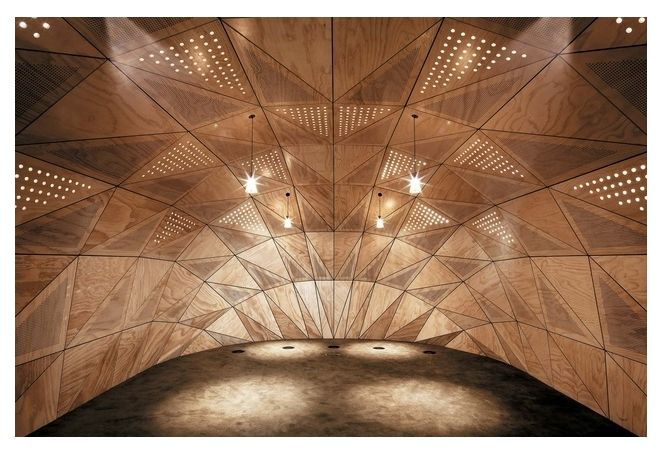 'Kākano' for Ngā Purapura by Tennent + Brown Architects. A beautifully designed and built meeting room built to represent a seed pod for Te Wānanga-o-Raukawa, the Institute of Maori Advancement in Otaki. Kākano (a seed pod) represents a new beginning. Built by Stanley Construction, part of the Stanley Group. Photo Credit: Jeff Brass.