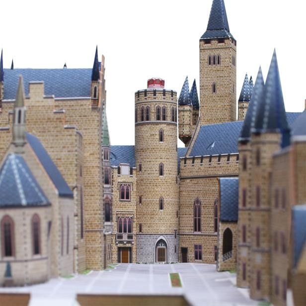Hohenzollern Castle Germany Architecture Paper Craft Paper Craft Germany Castle Building Middle Ages Paper Models Hohenzollern Castle Model Castle
