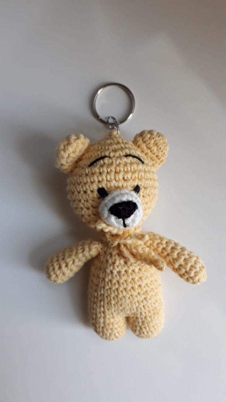 Chaveiro Urso amigurumi   O CONTO FEITO A MÃO   1308x736