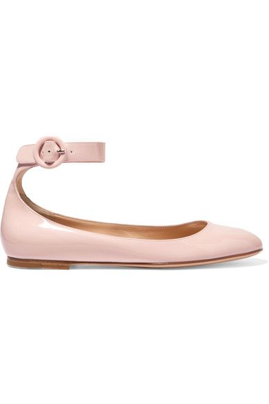 Gianvito Rossi - Patent-leather Ballet Flats - Baby pink - IT37