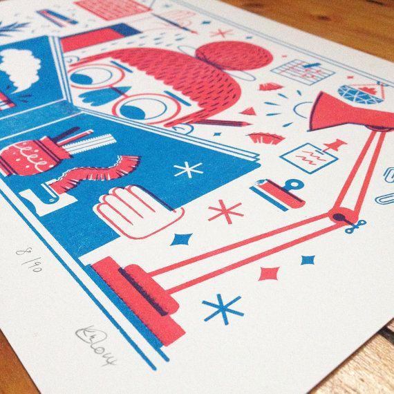 Making Things Risograph Print by kriski on Etsy