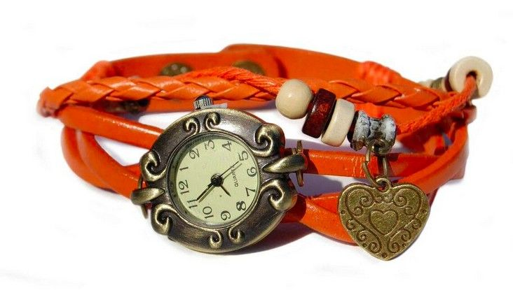 Love Harten Armband Horloge Oranje www.ovstore.nl/nl/huismerk-love-harten-armband-horloge-oranje.html