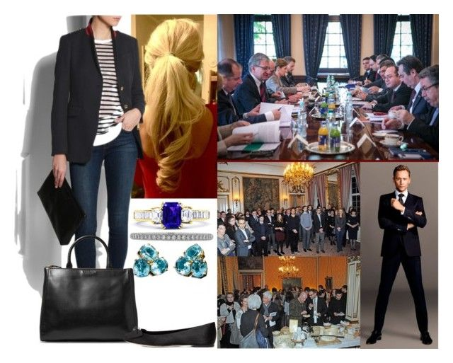 """Visiting the Polish Embassy and sitting in on a meeting before attending a reception with former Polish citizens living in Serbia"" by josephineofbaden ❤ liked on Polyvore featuring Reception, Lucie Campbell, Burberry, Sandro and Giuseppe Zanotti"