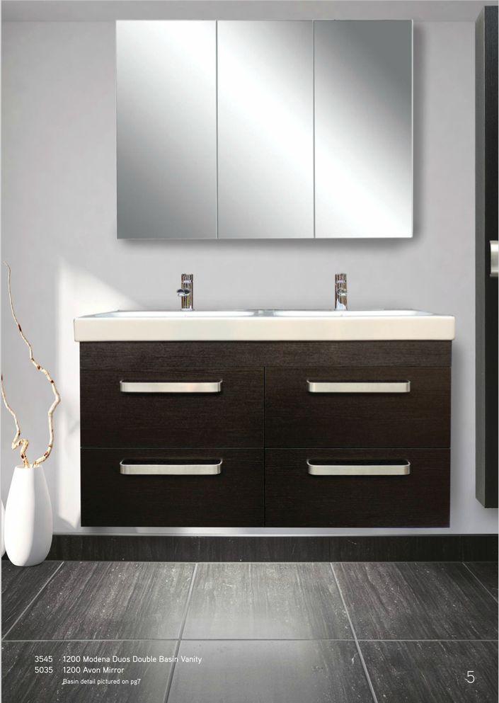 Newtech - Modena Duos Basin Vanity & Avon Mirror