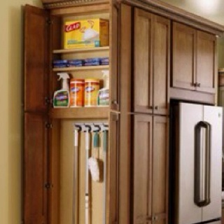 Keep All Of Your Cleaning Supplies In An Easily Accessable Space With  Thomasville Cabinetryu0027s Utility Cabinet. I Think This Idea Could Be Easily  Modified On ...
