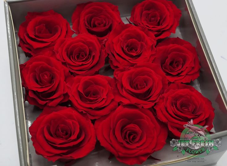 Jetfreshflowers Scarlett Red Preserved Roses Are Available At Jet Fresh Flowers In Miami