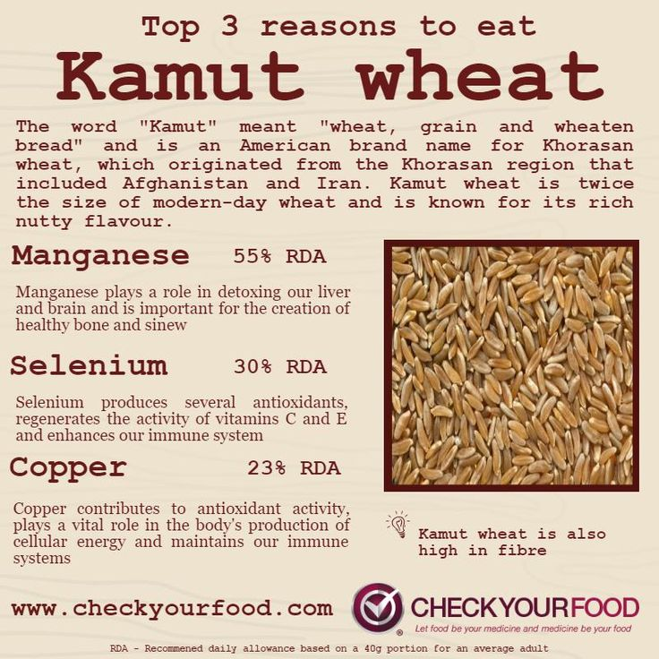 The health benefits of Kamut - Khorasan wheat - Check Your Food
