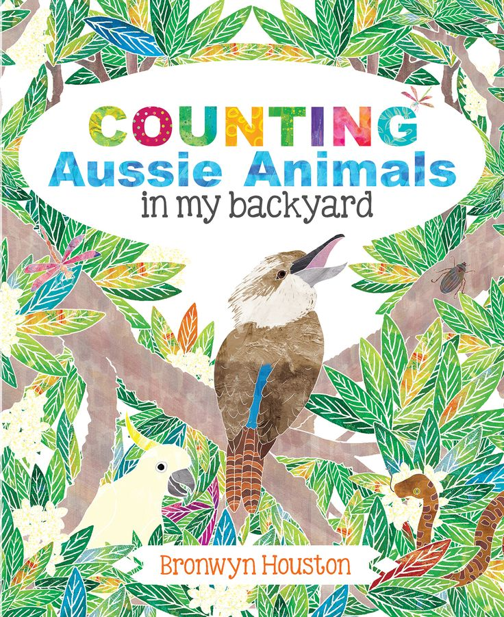 Bronwyn Houston makes counting to 10 so much fun! Her textured and vivid illustrations bring a tropical Australian garden to life, with a touch of humour thrown in. From kookaburras laughing on a fence to bull ants marching through the dirt ... find out what these Australian animals get up to in Bronwyn's backyard.