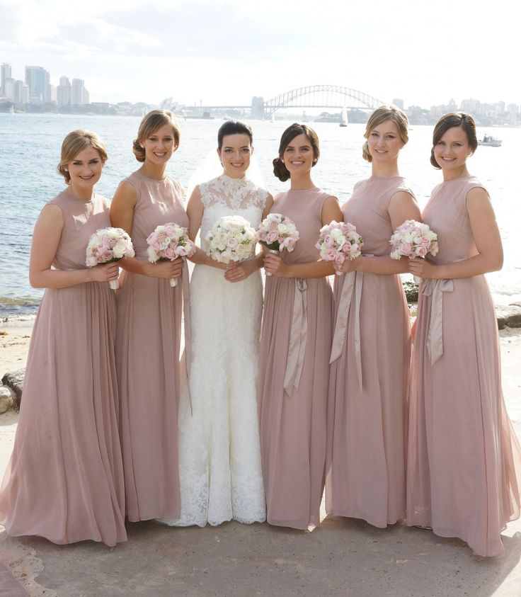 March bridesmaid dress colors pink